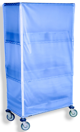 Opaque blue vinyl cart and equipment cover
