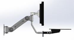 Wall Mounted LCD Monitor Arm System