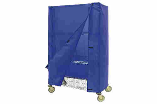 Blue nylon static dissipative cart or equipment cover