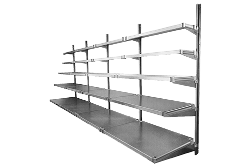 Wire And Solid Shelving