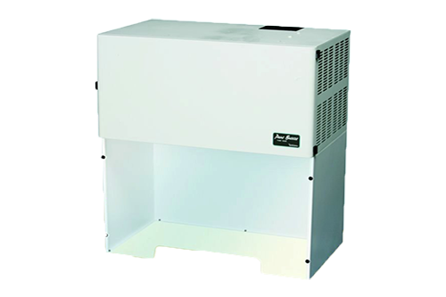 benchtop mounted Pure-Breeze fume hood and air purification system