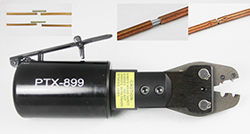 PTX-899 Custom pneumatic tool to crimp and join copper brake lines