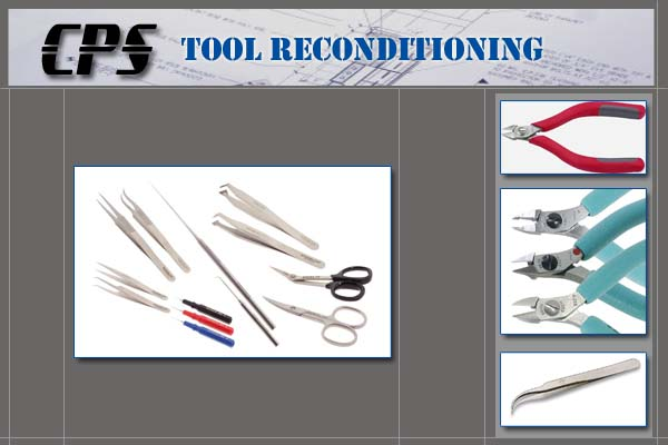 Tool reconditioning service, cutters, tweezers, pliers, probes and wire strippers